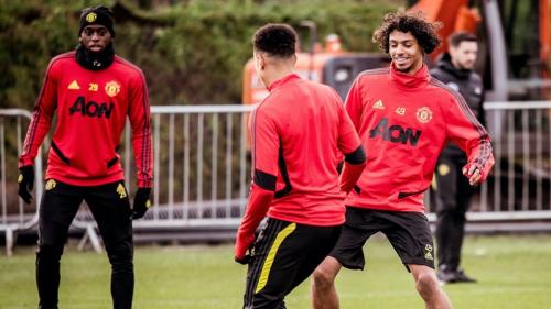 Sesi latihan Manchester United