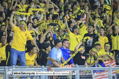 Suporter Malaysia (Foto: Twitter/@FAM_Malaysia)