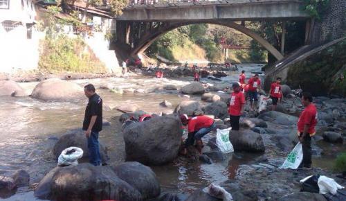 Aliran Sungai Ciliwung di Bogor. (Foto: Dok Okezone)