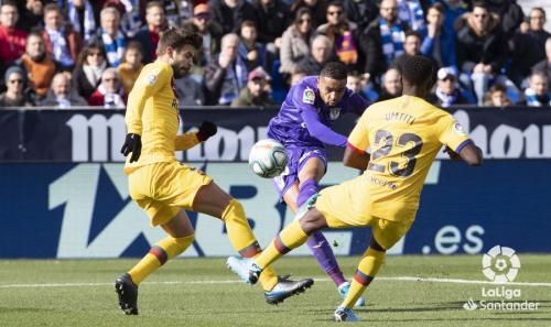 Laga Leganes kontra Barcelona