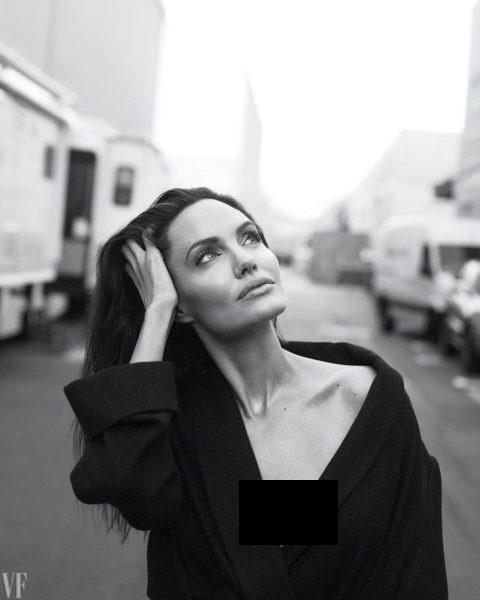 Angelina Jolie memutuskan mengangkat kedua payudaranya pada 2013. (Foto: Vanity Fair)