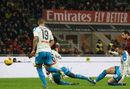 Giacomo Bonaventura menyamakan skor (Foto: AC Milan)