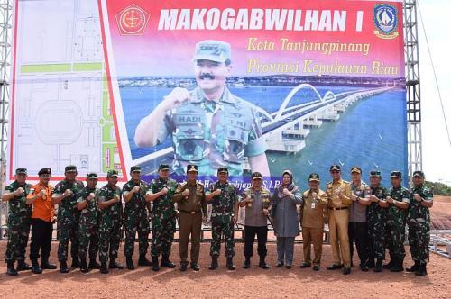 Panglima TNI Tinjau Makogabwilhan I, Tanjung Pinang, Kepri (foto: Ist)