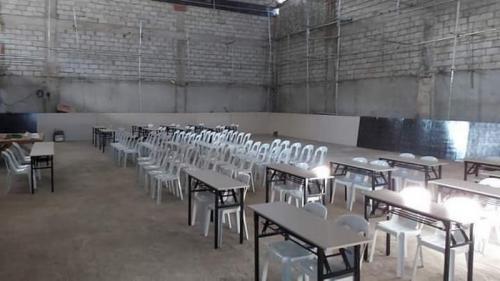 Kondisi ruang konferensi pers di Stadion Rizal Memorial