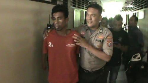 Pelaku Begal Sadis di Kendari, Sultra, Ditangkap Polisi (foto: Okezone/Asdar Zuula)