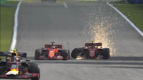 Sebastuan Vettel dan Charles Leclerc