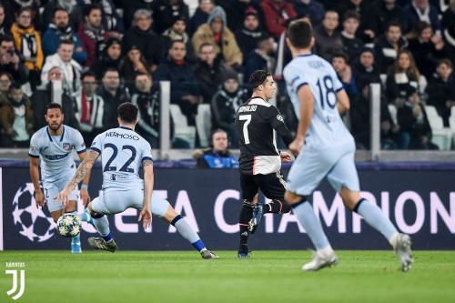 Cristiano Ronaldo vs Atletico Madrid (Foto: Twitter/@juventusfcen)