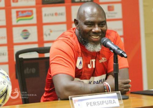 Jacksen F. Tiago menegaskan target Persipura Jayapura adalah mencuri poin (Foto: Liga Indonesia Baru)