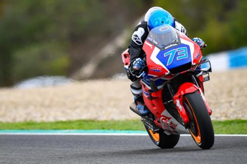 Alex Marquez sudah menjajal motor RC213V edisi 2020 (Foto: MotoGP)