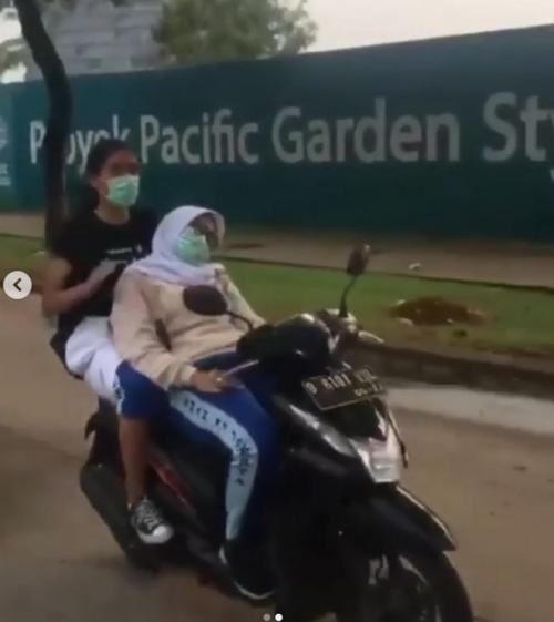 Pengendara sepeda motor pingsan