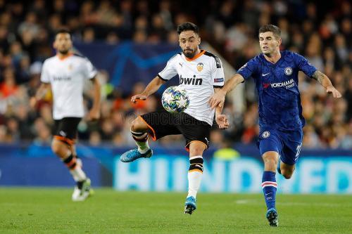 Suasana laga Valencia vs Chelsea