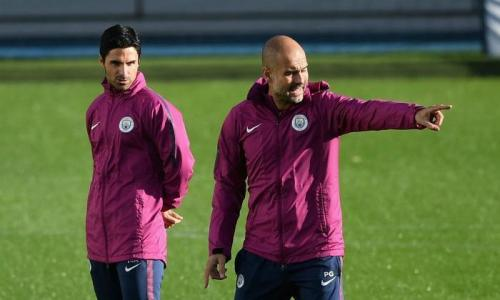 Guardiola dan Mikel Arteta