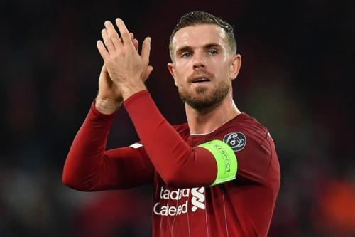 Jordan Henderson saat membela Liverpool