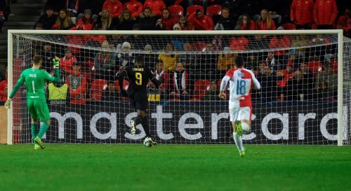 Romelu Lukaku vs Slavia Praha (Foto: UEFA)