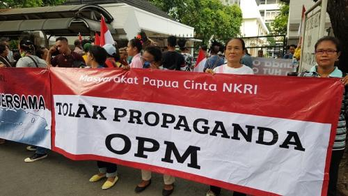 Demo Depan Kemenko Polhukam, Masyarakat Papua Serukan Tolak Perayaan HUT OPM. (Ist)