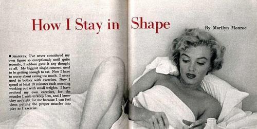 Marilyn Monroe saat diwawancara majalah Peagent pada 1952 terkait rahasia dietnya. (Foto: Majalah Pageant)