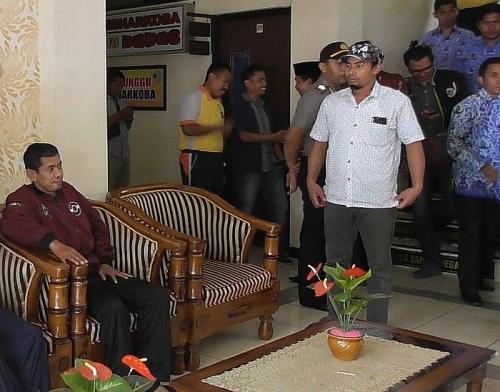 Ahmad Fauzi, Kepala Desa (Kades) Batur terpilih Sudah Ditemukan dan Berada di Polres Banjarnegara Usai Menghilang Selama 3 Pekan (foto: iNews/Elis Novit)