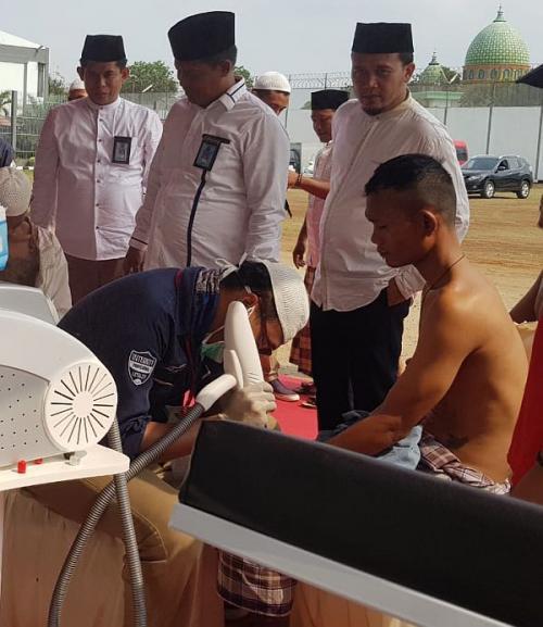 Ratusan Napi Lapas Tangerang Hapus Tato (foto: Sindonews/Rasyid Ridho)