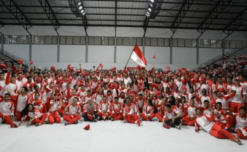 Kontingen Indonesia di SEA Games 2019. Foto: Kemenpora