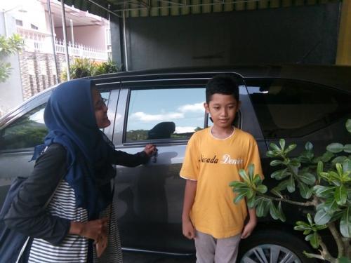 Bocah bernama Lembah Manah miliki banyak kesamaan dengan cucu ketiga Jokowi. (Foto: Bramantyo/Okezone)