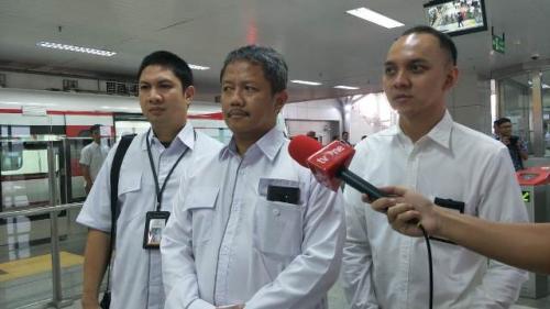 Direktur Utama PT LRT Jakarta Wijanarko. (Foto: Fakhrizal Fakhri/Okezone)