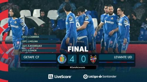 Hasil laga Getafe vs Levante