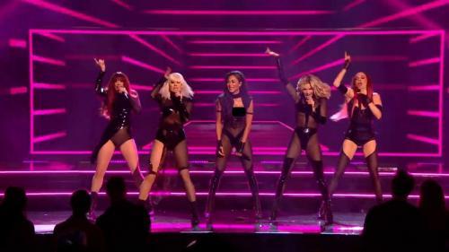 Setelah bubar selama 9 tahun, Nicole Scherzinger cs akhirnya menggelar pertunjukan reuni dalam X-Factor: Celebrity. (Foto: YouTube/The X Factor UK)