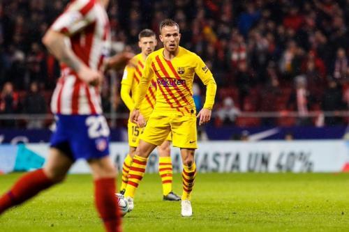 Suasana laga Atletico vs Barcelona