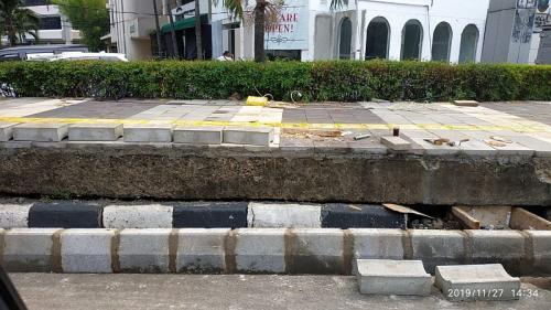 Revitalisasi trotoar di Kemang ditolak warga (Foto : Istimewa)