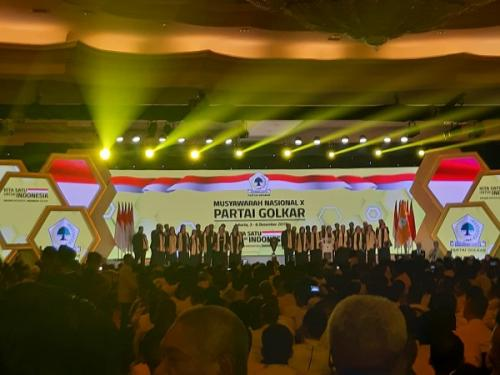 Munas X Partai Golkar di Jakarta, Selasa (3/12/2019). (Foto : Okezone.com/Fahreza Rizky)
