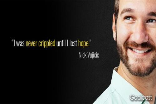 Nick Vujicic merupakan selebriti dengan disabilitas yang cukup terkenal di seluruh dunia