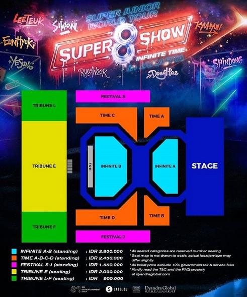 Tiket konser Super Junior