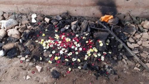 Lokasi di mana jasad dokter hewan korban perkosaan di India ditemukan pekan lalu. (BBC)