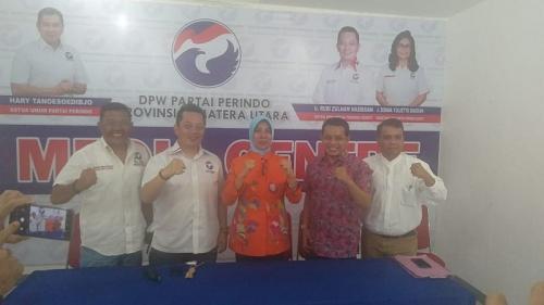 Mantan Wagub Sumut Ikut Berebut Rekomendasi Perindo di Pilkada Asahan 2020 (foto: Okezone/Wahyudi)
