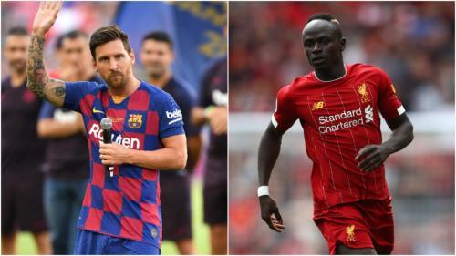 Lionel Messi dan Sadio Mane