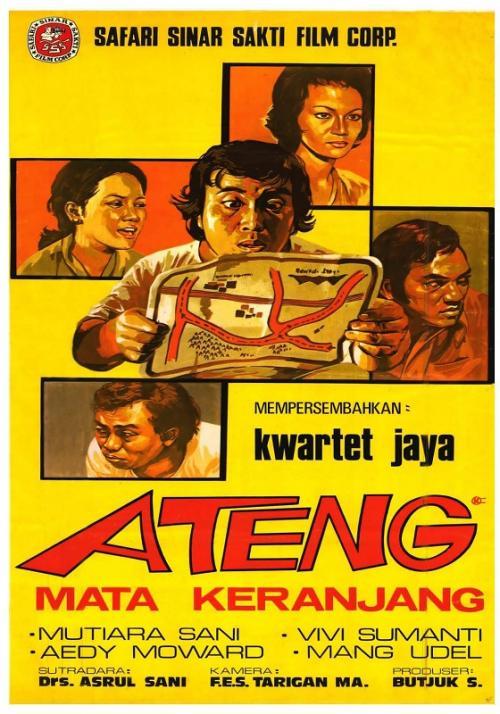 Ateng kemudian dikenal lewat sederet film populer. (Foto: Safari Sinar Sakti Film Corp)