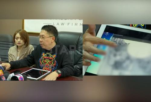 Nathalie Holscher dan kuasa hukumnya membeberkan bukti CCTV aksi pemukulan yang dilakukan Gathan. (Foto: YouTube/Starpro Indonesia)