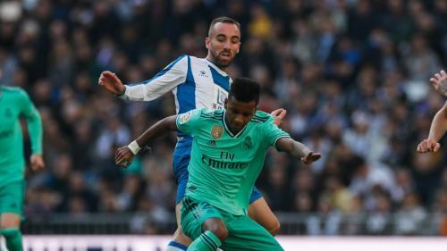 Suasana laga Real Madrid vs Espanyol