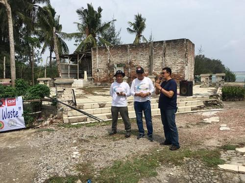 MNC Peduli Wujudkan Pulau Sangiang Bebas Sampah Plastik (Sindonews/Rasyid Ridho)