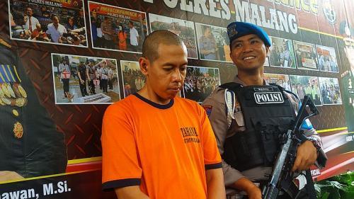 Polres Malang Gelar Perkara Kasus Oknum Guru BK di Malang Minta Murid Masturbasi (foto: Okezone/Avirista Midaada)