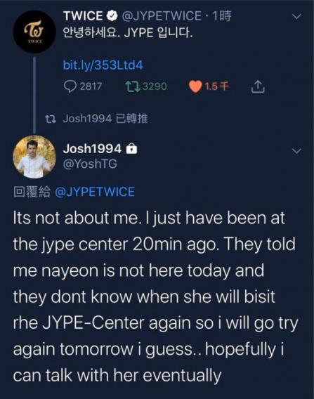 Menariknya, Yosh si penggemar obsesif Nayeon itu mengaku pernyataan JYP Entertainment itu tak ditujukan padanya. (Foto: TWICE)