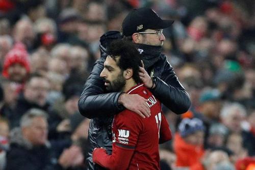 Jurgen Klopp dan Mohamed Salah