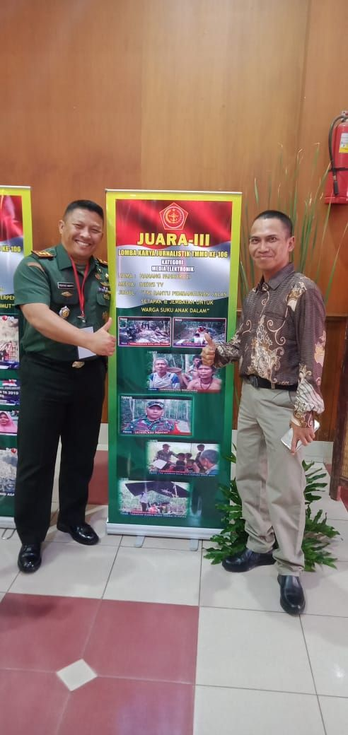 Wartawan iNews TV Juara III Lomba Jurnalistik TMMD 2019 (foto: iNews/Nanang Fachrurozi)