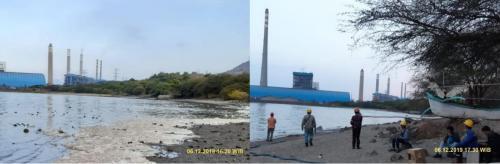 Buih di Pantai Bohay, Probolinggo Sudah Dibersihkan (foto: PT PJB)