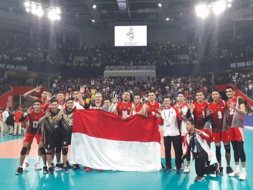Tim voli putra Indonesia raih emas di SEA Games 2019