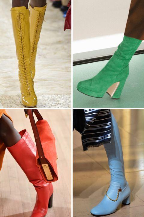 Sepatu boots knee-high yang klasik jadi lebih seru