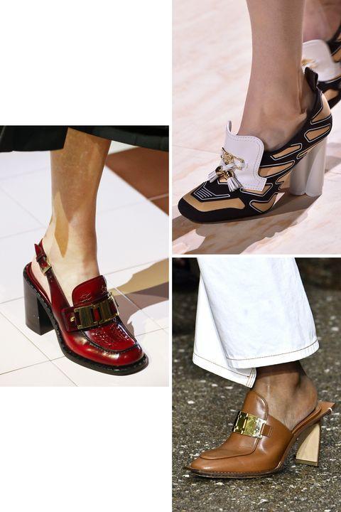 The new loafer ini contohnya, loafer dengan hak model chunky, dan loafer slingback.