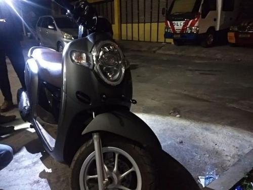 Sepeda Motor yang Diketahui milik Wina Berhasil Ditemukan (foto: Okezone/Demon Fajri)