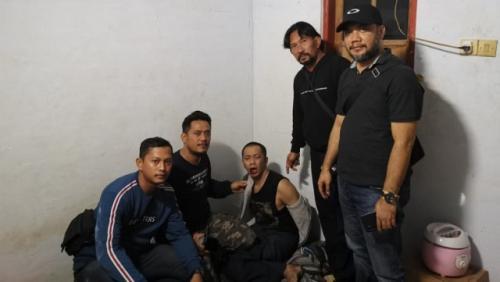 Tahanan kabur di Mapolresta Malang yang juga otak pelarian, Sokib Sulianto, ditangkap polisi. (Foto: iNews/Ihya Ulumuddin).