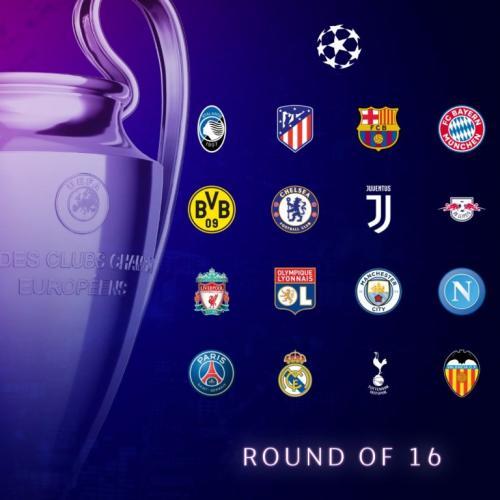 Peserta fase gugur Liga Champions 2019-2020 (Foto: Twitter/@ChampionsLeague)